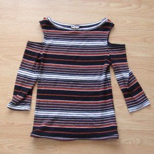 NWOT   Free People Ribbed Striped Tee   Size M